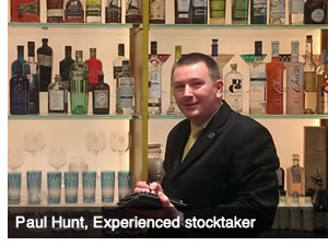 Experienced stocktaker Paul Hunt